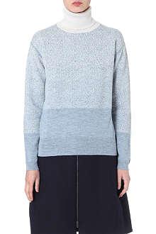 JIL SANDER Ombré cashmere-blend jumper