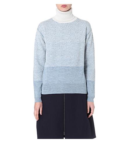 JIL SANDER Ombré cashmere-blend jumper (Blue