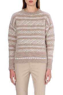 JIL SANDER Aztec print knitted jumper