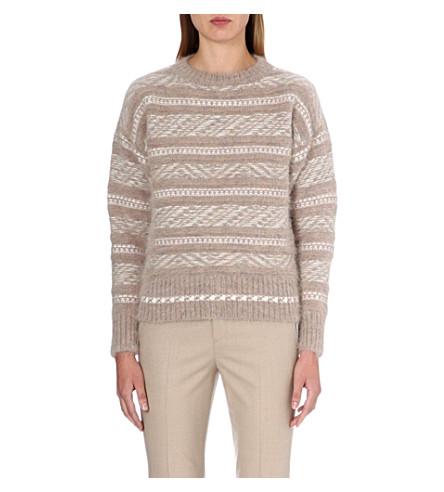 JIL SANDER Aztec print knitted jumper (Pink