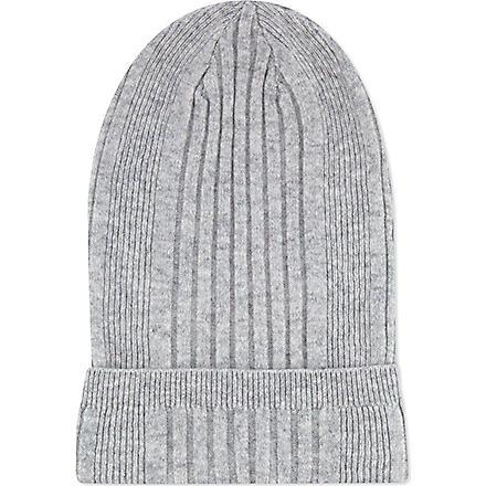 JIL SANDER Cashmere ribbed hat (Grey