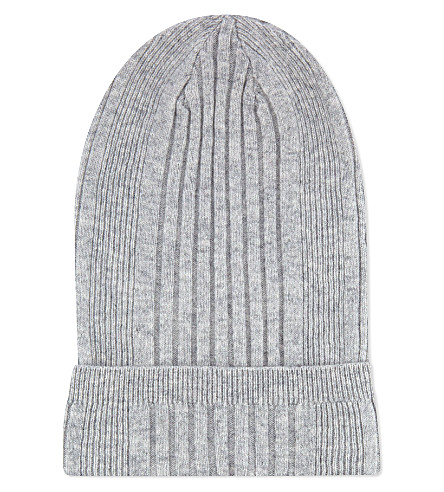 JIL SANDER Cashmere ribbed hat (Grey