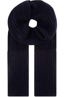 JIL SANDER Cashmere ribbed scarf