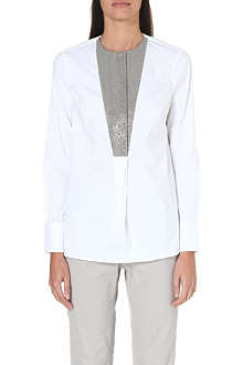 BRUNELLO CUCINELLI Embellished-panel shirt