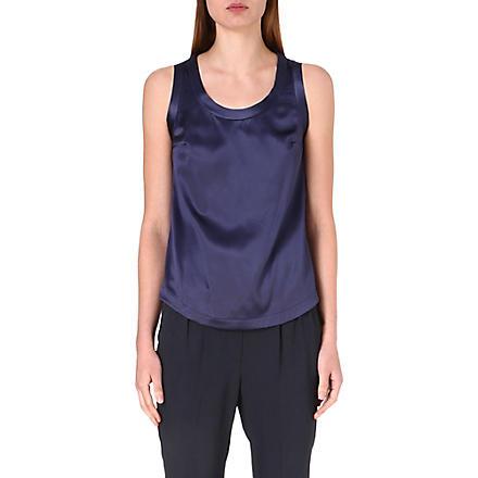 BRUNELLO CUCINELLI Stretch-silk top (Twilight