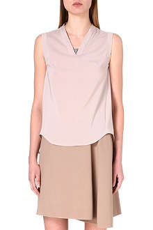 BRUNELLO CUCINELLI Chain-detail silk-blend top