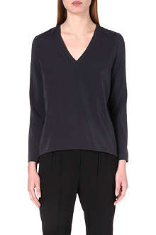 BRUNELLO CUCINELLI V-neck stretch-silk top