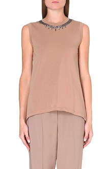 BRUNELLO CUCINELLI Swarovski-detail sleeveless top