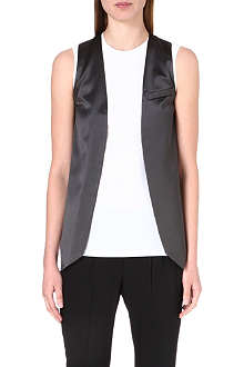 BRUNELLO CUCINELLI Sleeveless jersey top and satin waistcoat