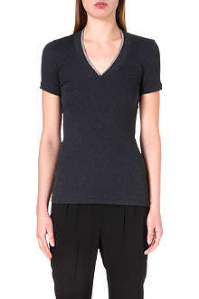 BRUNELLO CUCINELLI Chain-detail v-neck t-shirt