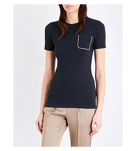 BRUNELLO CUCINELLI Patch-pocket jersey T-shirt (Charcoal