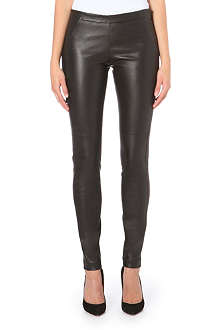 BRUNELLO CUCINELLI Skinny leather trousers