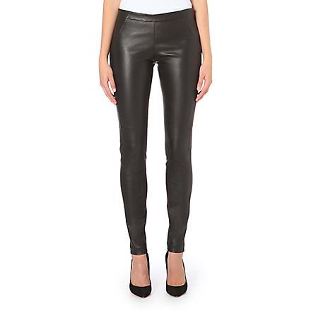 BRUNELLO CUCINELLI Skinny leather trousers (Black