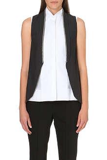 BRUNELLO CUCINELLI Chain-detail stretch-silk waistcoat