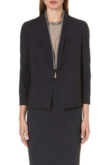 BRUNELLO CUCINELLI Embellished-detail wool-blend jacket