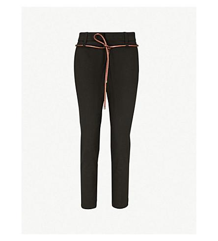 BRUNELLO CUCINELLI Skinny-leg wool-blend trousers (Black+stone