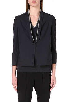BRUNELLO CUCINELLI Embellished lapel jacket