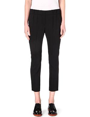 BRUNELLO CUCINELLI Pleated-waist stretch-cotton trousers