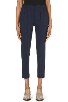 BRUNELLO CUCINELLI Pleated-waist stretch-cotton trousers