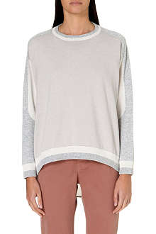 BRUNELLO CUCINELLI Tri-colour cashmere jumper