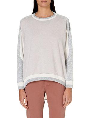 BRUNELLO CUCINELLI Tri-colour cashmere jumper