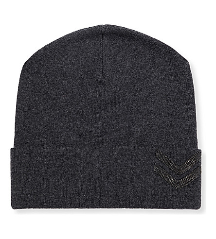 BRUNELLO CUCINELLI Military-embellished cashmere beanie (Anracite