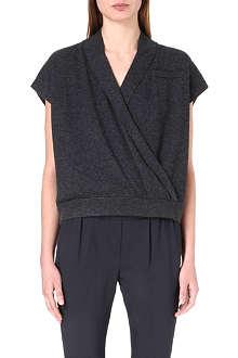 BRUNELLO CUCINELLI Wrap-style cashmere jumper