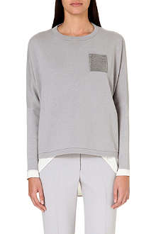 BRUNELLO CUCINELLI Embellished-pocket cashmere jumper