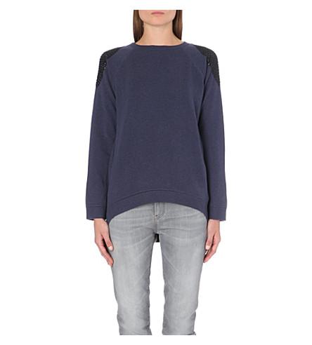 BRUNELLO CUCINELLI Swarovski-embellished cashmere jumper (Twilight