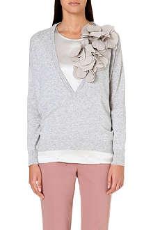 BRUNELLO CUCINELLI Leaf-embellished cashmere jumper