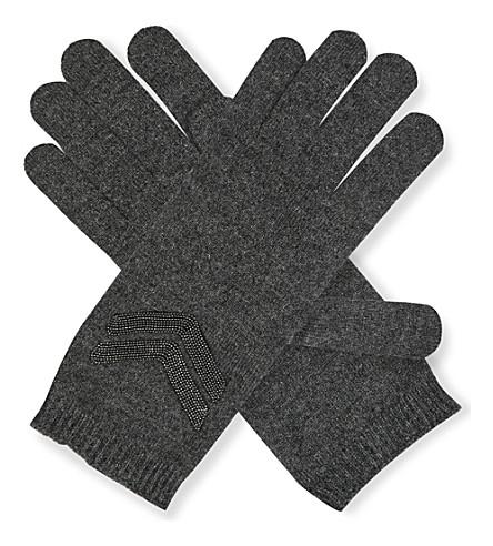 BRUNELLO CUCINELLI Precious Stripes cashmere gloves (Anracite