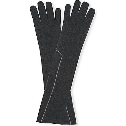 BRUNELLO CUCINELLI Long chain gloves (Brown