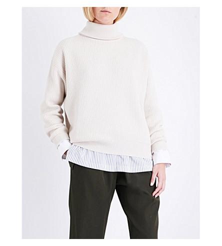 BRUNELLO CUCINELLI Turtleneck cashmere sweater (Milk