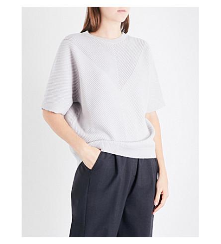BRUNELLO CUCINELLI Chevron-knit cashmere jumper (Salt
