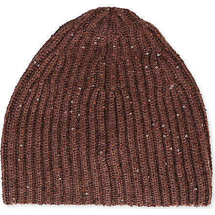 BRUNELLO CUCINELLI Sequin beanie (Brown