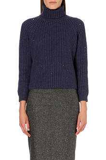 BRUNELLO CUCINELLI Sequinned cashmere and silk jumper