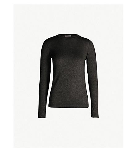 BRUNELLO CUCINELLI Metallic cashmere-blend jumper (Black+stone