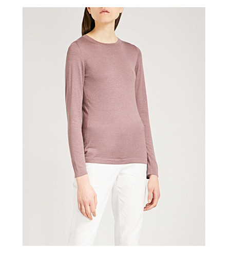 BRUNELLO CUCINELLI 金属针织羊绒混纺毛衣 (紫色