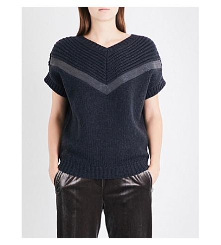 BRUNELLO CUCINELLI Monili chain-embellished cashmere jumper (Black stone