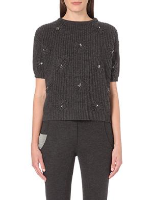 BRUNELLO CUCINELLI Cashmere Swarovski embellished jumper