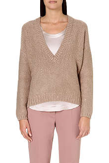 BRUNELLO CUCINELLI Chunky-knit sequin jumper