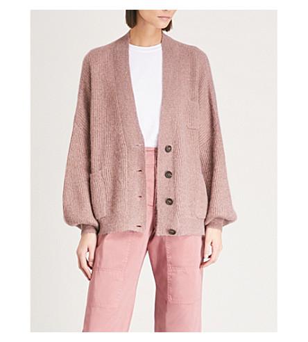 BRUNELLO CUCINELLI Metallic knitted cardigan (Mauve