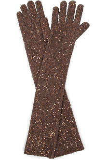 BRUNELLO CUCINELLI All-over sequin gloves