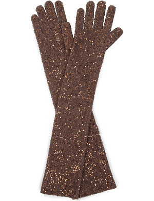 BRUNELLO CUCINELLI All-over sequin gloves