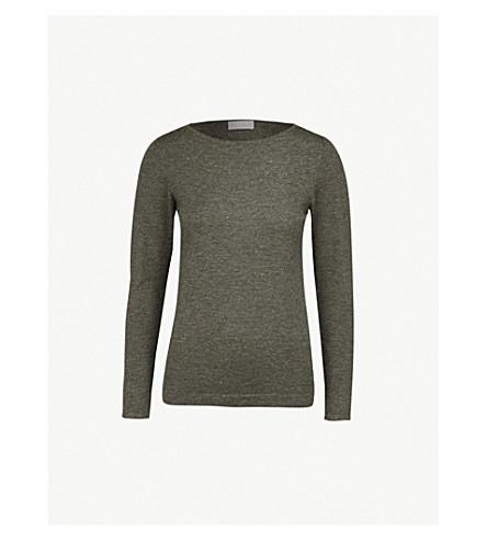 BRUNELLO CUCINELLI 金属羊绒混纺毛衣 (炭