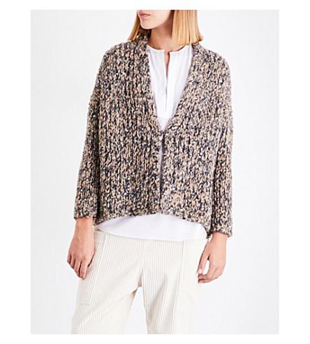 BRUNELLO CUCINELLI Sequin-embellished alpaca-blend cardigan (Beige+black