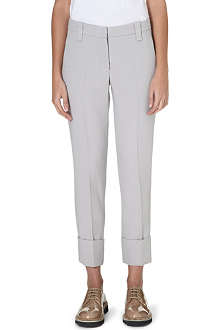 BRUNELLO CUCINELLI Tapered wool-crepe trousers