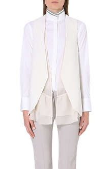 BRUNELLO CUCINELLI Frill-detail waistcoat