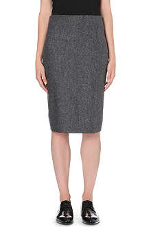 BRUNELLO CUCINELLI Speckled wool-blend pencil skirt