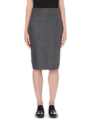 BRUNELLO CUCINELLI Speckled wool-blend pencil skirt